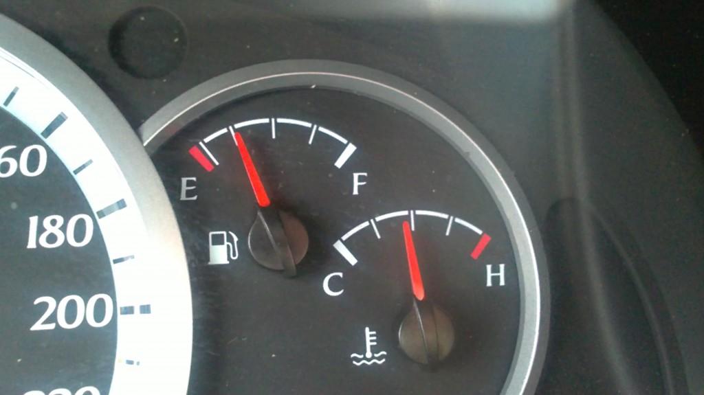 Indicador de temperatura del coche